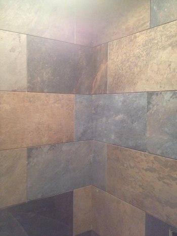 The tile for the master bathroom shower.