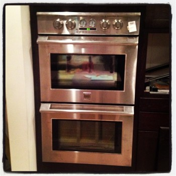 This is our new oven that Stacy tried to kill.